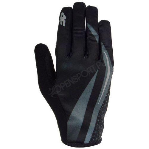 4f Żelowe rękawiczki rowerowe c4l16 rru005 grafit s