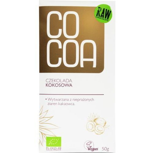 Czekolada Kokosowa Ekologiczna 50g - COCOA EKO