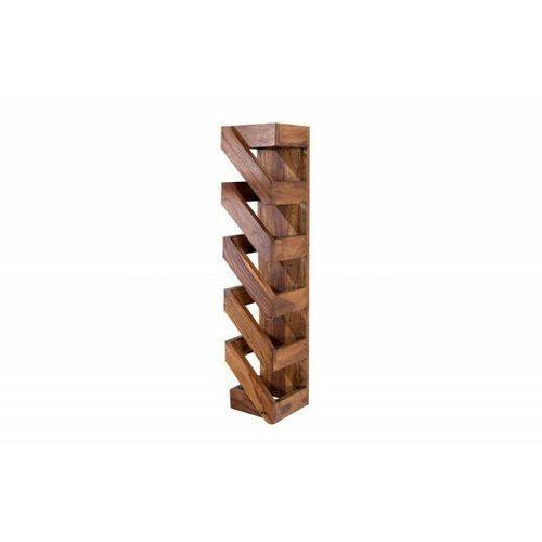 Sofa.pl Invicta stojak na wino makassar 70 cm - sheesham, drewno naturalne