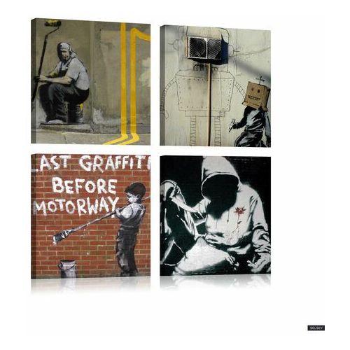 SELSEY Obraz - Banksy - sztuka ulicy 80x80 cm (5902622543703)