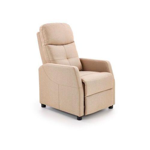 Fotel Felipe beżowy rozkładany kolor beżowy, kolor beżowy