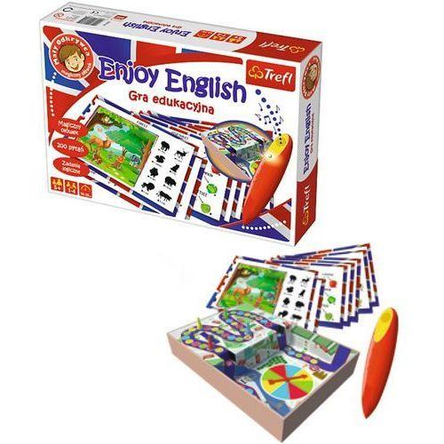 gra edukacyjna enjoy english mały odkrywca i magiczny ołówek 01605 marki Trefl