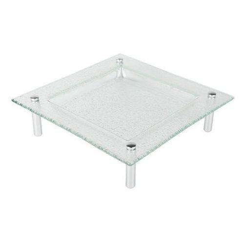 Patera szklana kwadratowa na nóżkach 30x30 cm