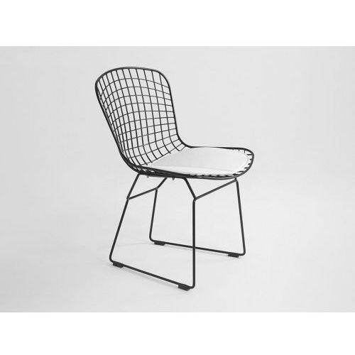 Krzesło metalowe Customform WIR - czarny, CH017WIRE-DR-02 (8561679)
