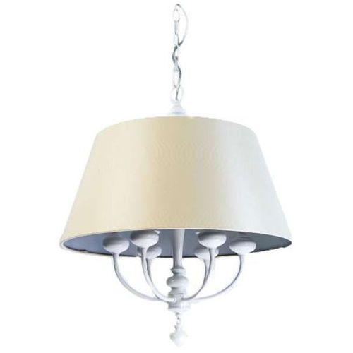 Lampa wisząca tomba bianco klasyczna oprawa zwis na łańcuchu kremowy biały marki Orlicki design