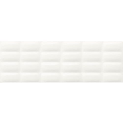 WHITE GLOSSY PILLOW STRUKTURA 25×75 GAT.II