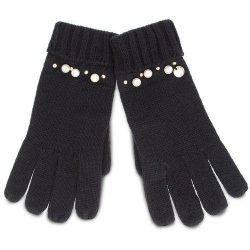 Rękawiczki damskie - guanti maglia perle n68308 m0300 nero 22222 marki Liu jo