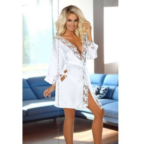 Luksusowy szlafrok ambrosia white | 100% dyskrecji | bezpieczne zakupy marki Beauty night