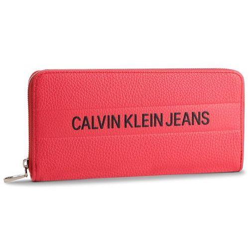 f787c1535e898 Calvin klein jeans Duży portfel damski - logo banner large ziparound  k40k400840 634