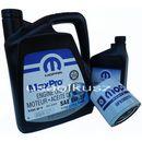 Oryginalny filtr oraz mineralny olej 5w30 dodge ram 1500 4,7 v8 -2008 marki Mopar