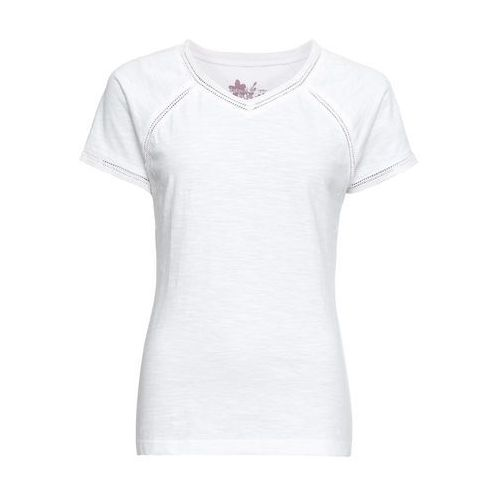 Shirt 2 w 1 z długim rękawem i ćwiekami pastelowy jasnoróżowy - biel wełny, Bonprix, 44-58