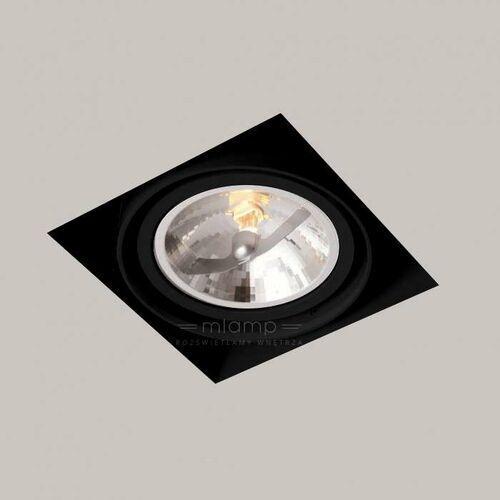 Shilo Spot lampa sufitowa komoro 3308 podtynkowa oprawa kwadratowa oczko regulowane wpust do zabudowy czarny