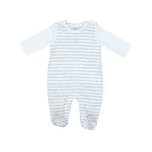 FEETJE Baby Śpioszki Paski kolor szary (8718751005558)