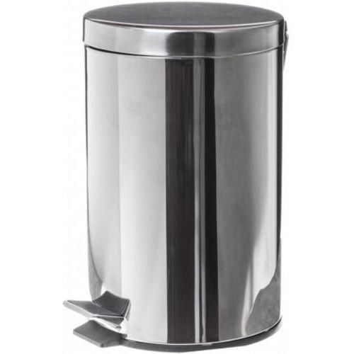 Metalowy kosz na śmieci 12 litrów stal nierdzewna połysk kosz na śmieci ze stali nierdzewnej chrom, faneco wbe12jp marki Clean
