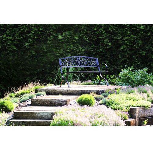 Home&garden Ławka ogrodowa flowers green + darmowy transport!