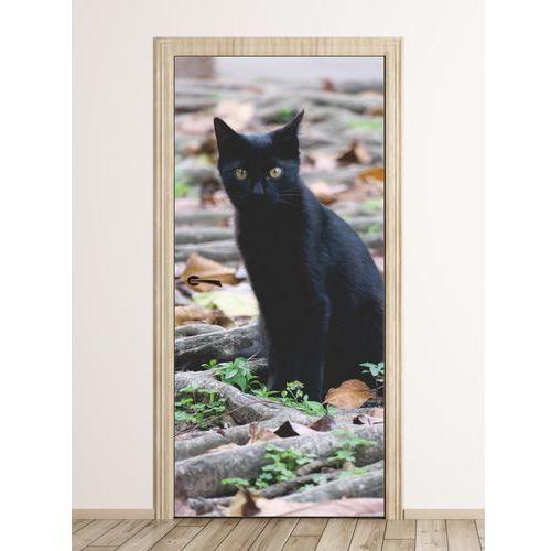 Wally - piękno dekoracji Fototapeta na drzwi czarny kot fp 6208