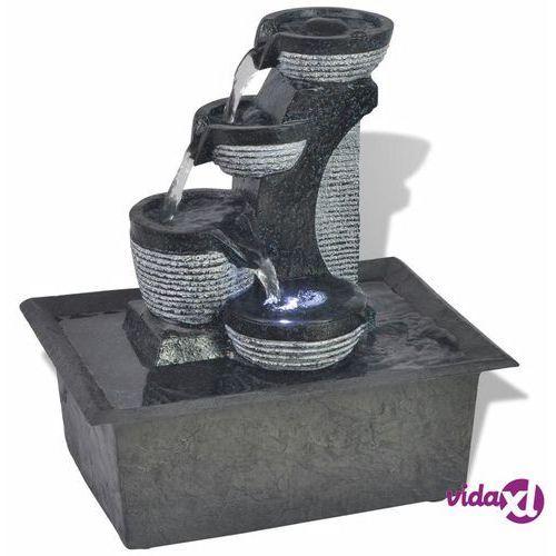 fontanna pokojowa ze światłem led, żywica syntetyczna marki Vidaxl