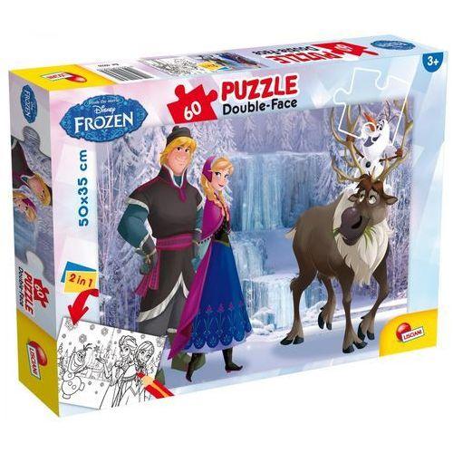 Puzzle 60 dwustronne Frozen. Kraina lodu