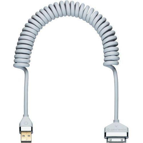 Oehlbach Kabel do ipad/iphone/ipod  60056, [1x złącze męskie usb 2.0 a - 1x złącze męskie apple dock], spiralny, 2 m