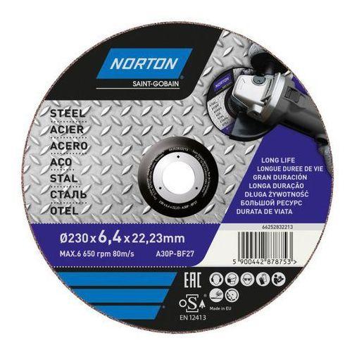 Tarcza korundowa do szlifowania stali 27-230 x 6,4 x 22,2 mm marki Norton
