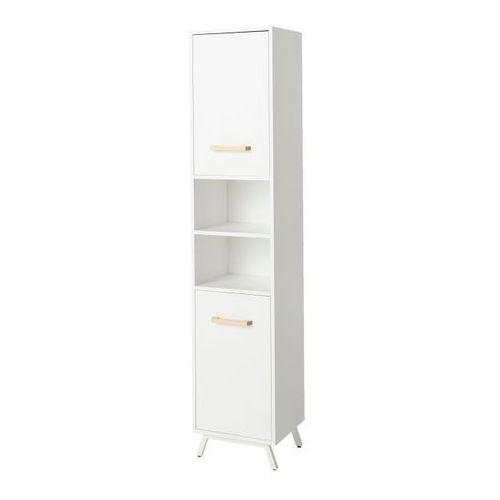 Goodhome Słupek łazienkowy ladoga 190 x 36 x 40 cm biały