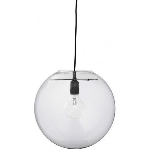 Lampa wisząca glass ball transparentna czarny krzyżak w oprawce, marki Bloomingville