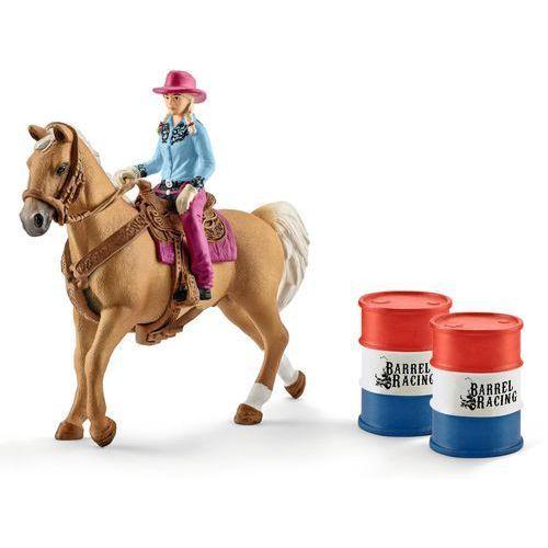 Schleich Kowbojka w wyścigu przez beczki -