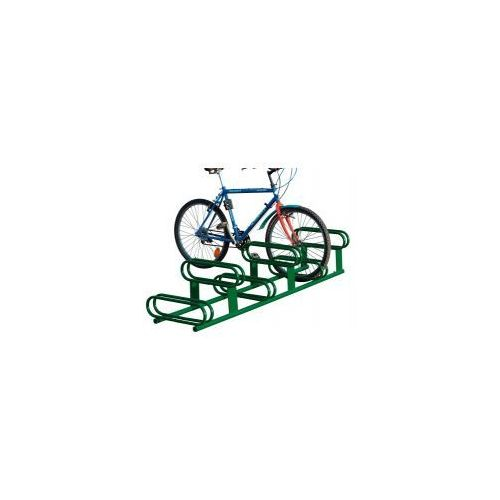 Stojak rowerowy dwupoziomowy - 6 stanowisk, powierzchnia ocynkowana ogniowo, 204700