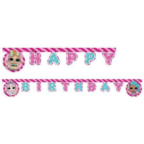 Procos disney Baner happy birthday lol glitterati - 210 cm - 1 szt.