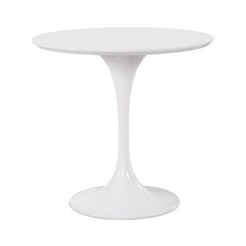 MODESTO Stół TULIP FI 80 biały - MDF, metal