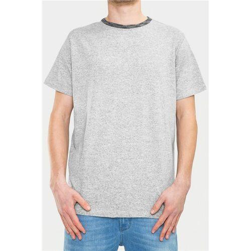 koszulka REELL - Curved Light Grey Melange (LIGHT GREY MELANGE) rozmiar: XL