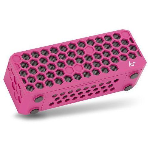 KitSound Hive Bluetooth bezprzewodowe uniwersalne Przenośny głośnik stereo z wtyczka jack 3,5 MM * kompatybilny ze smartfonów, tabletów i urządzeń mp3 różowy