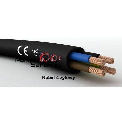 Specjalny przewód elektryczny - kabel do pomp głębinowych 4 żyłowy przekrój 1,5mm