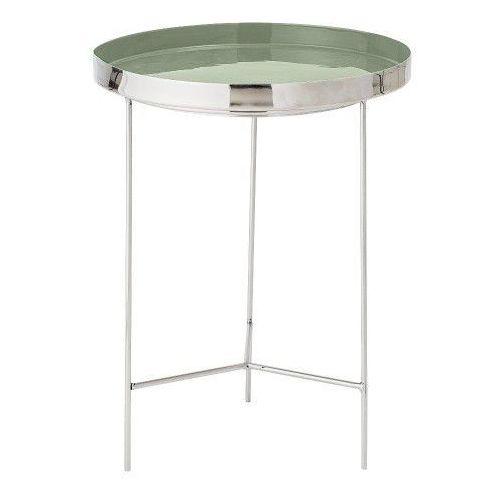 Stolik kawowy z tacą, srebro / zieleń, 40 cm - Bloomingville