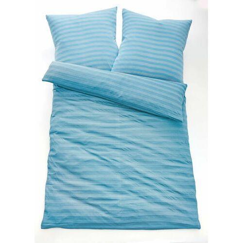 Pościel w paski bonprix jasnoniebieski, kolor niebieski