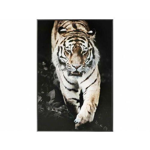 Obraz drukowany w ramie roar – 60 × 90 × 2,5 cm (dł. × szer. × wys.) – kolor czarny, biały i brązowy marki Vente-unique