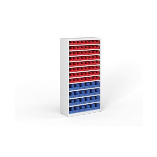 B2b partner Regał z plastikowymi pojemnikami - 1800x920x300 mm, 64x a, 24x b