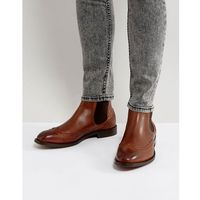 breslin leather brogue boots in tan - tan marki H by hudson