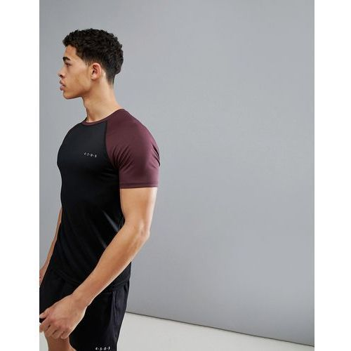 Asos 4505 muscle t-shirt with quick dry and contrast raglan - multi