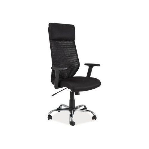 Fotel obrotowy, krzesło biurowe q-211 black marki Signal