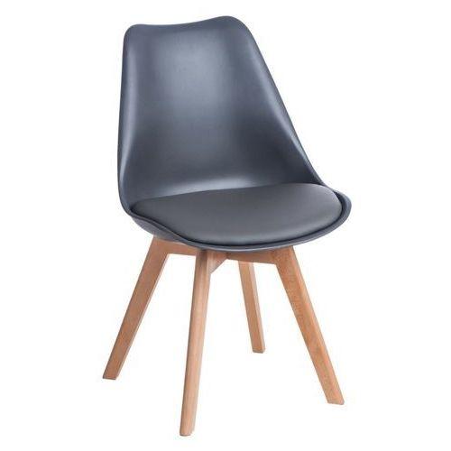 Krzesło z poduszką na drewnianych nogach Norden Cross