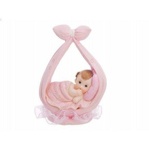 Figurka dziecko w różowej chusteczce - 11 cm