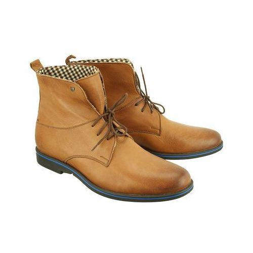 2702 brązowy, trzewiki męskie - brązowy marki Man fashion
