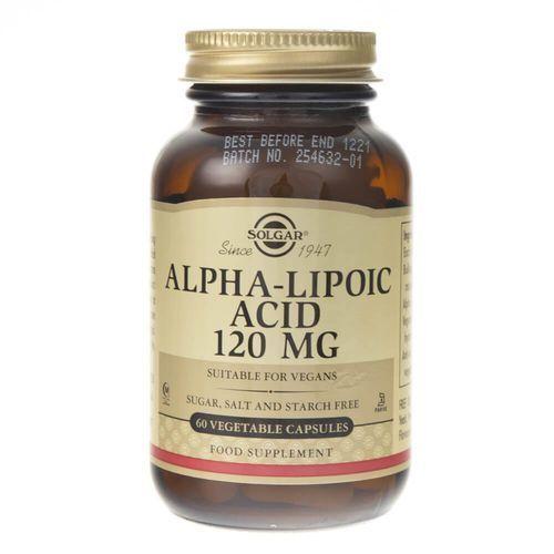 Solgar Kwas Alfa Liponowy 120 mg - 60 kapsułek