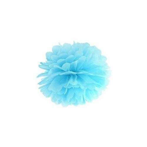 Ap Dekoracja wisząca pompon kwiat - błękitna - 25 cm - 1 szt. (5901157469281)