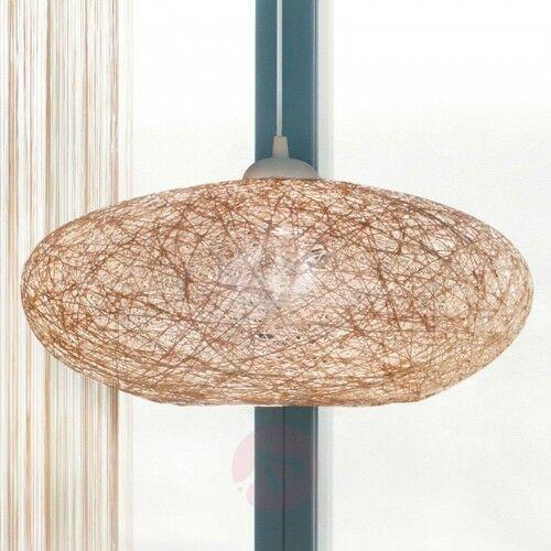 Tekstylna lampa wisząca Campilo, beżowa