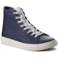 Sneakersy TOMMY JEANS - Light Leather Mid EM0EM00104 Black Iris 431, w 7 rozmiarach