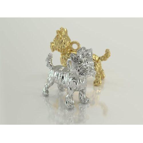 Węc - twój jubiler Wisiorek z żółtego złota z figurką psa rasy york