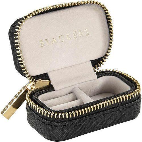 Pudełko podróżne na biżuterię Travel Mini Stackers velvet czarne, 75390