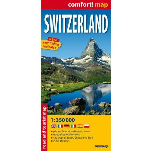 Switzerland Laminowana Mapa Samochodowo-Turystyczna 1:350 000, EXPRESSMAP